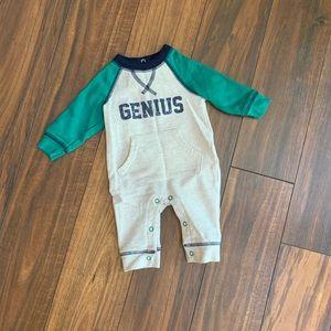 """Newborn """"GENIUS""""cozy onesie romper"""